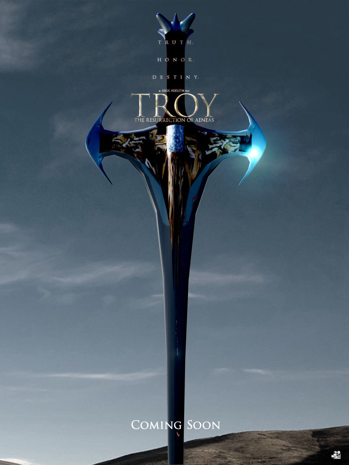 Troy the Resurrection of Aeneas - film poster - spada - sword