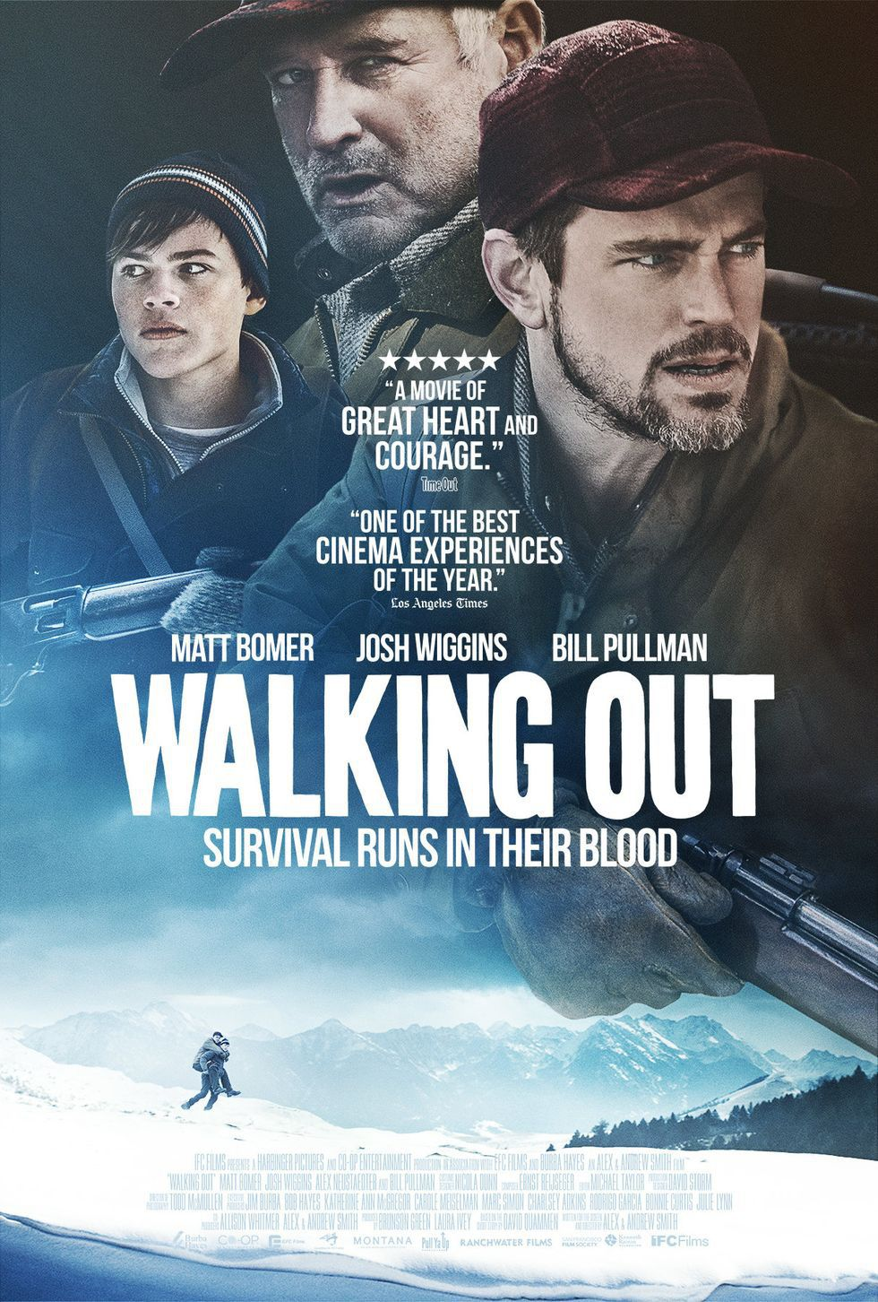 Walking Out - Matt Bomer - Josh Wiggins - Bill Pullman - film poster