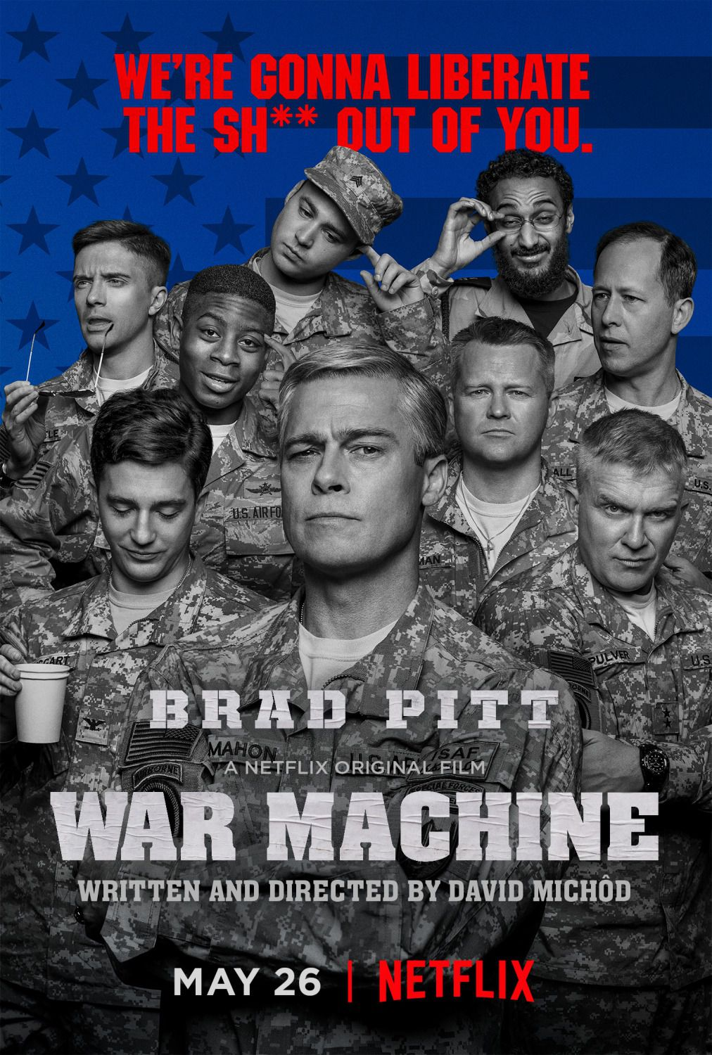 War Machine - We're gonna liberate the sh** out of You - Brad Pitt - Netlix