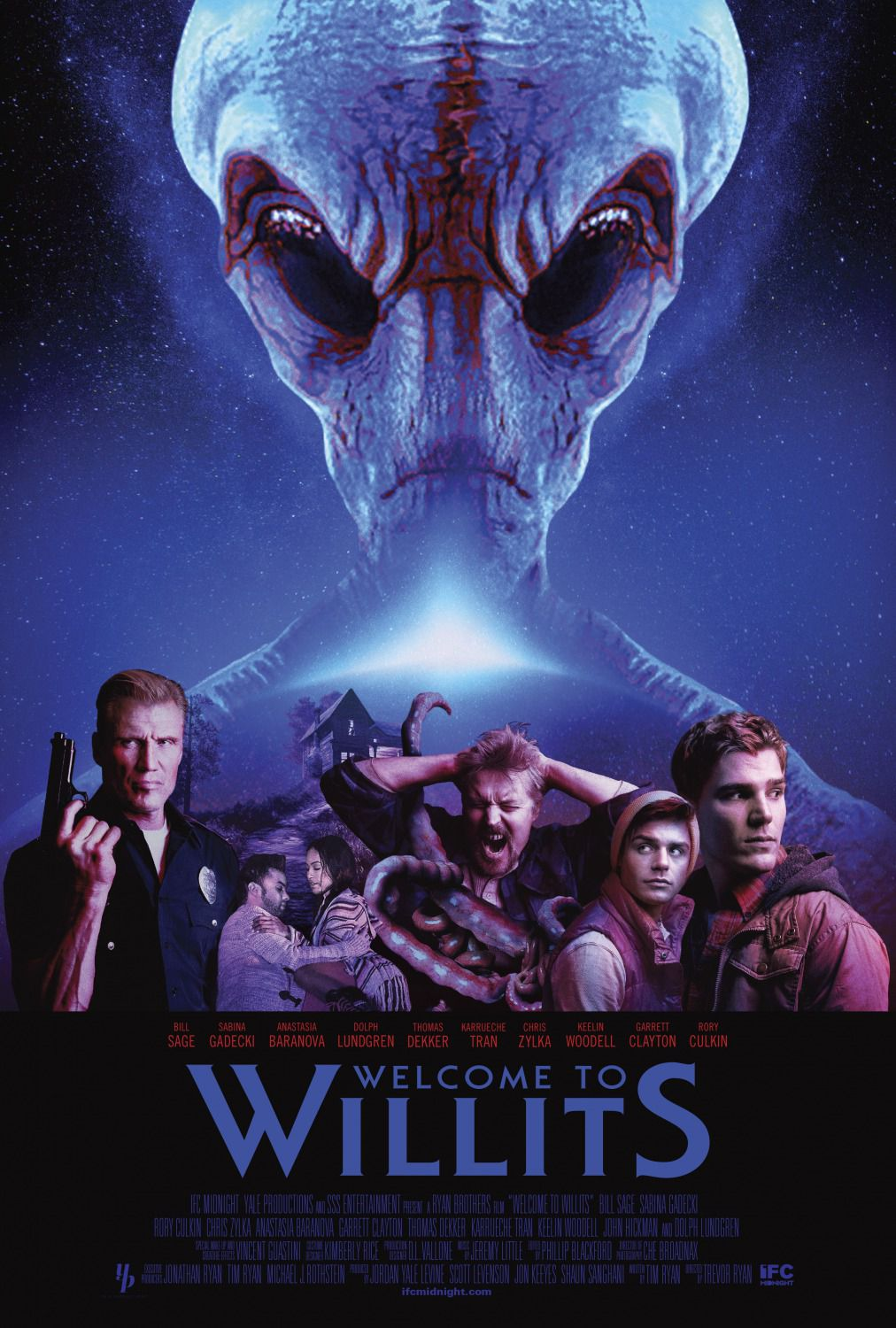 Welcome to Willits - horror poster - Dolph Lundgren - Rory Culkin - Thomas Dekker - Chris Zylka - film poster