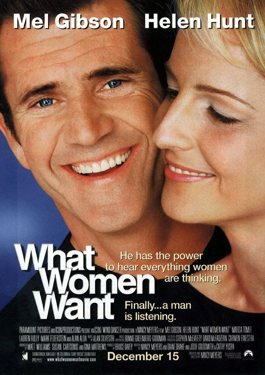 What Women Want - Quello che le Donne Vogliono - Mel Gibson - Helen Hunt - love film poster