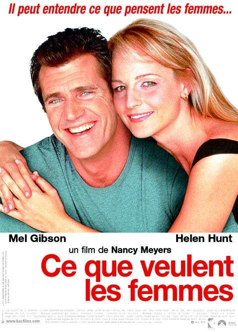 What Women Want - Quello che le Donne Vogliono - Ce que veulent les Femmes - Mel Gibson - Helen Hunt - love film poster