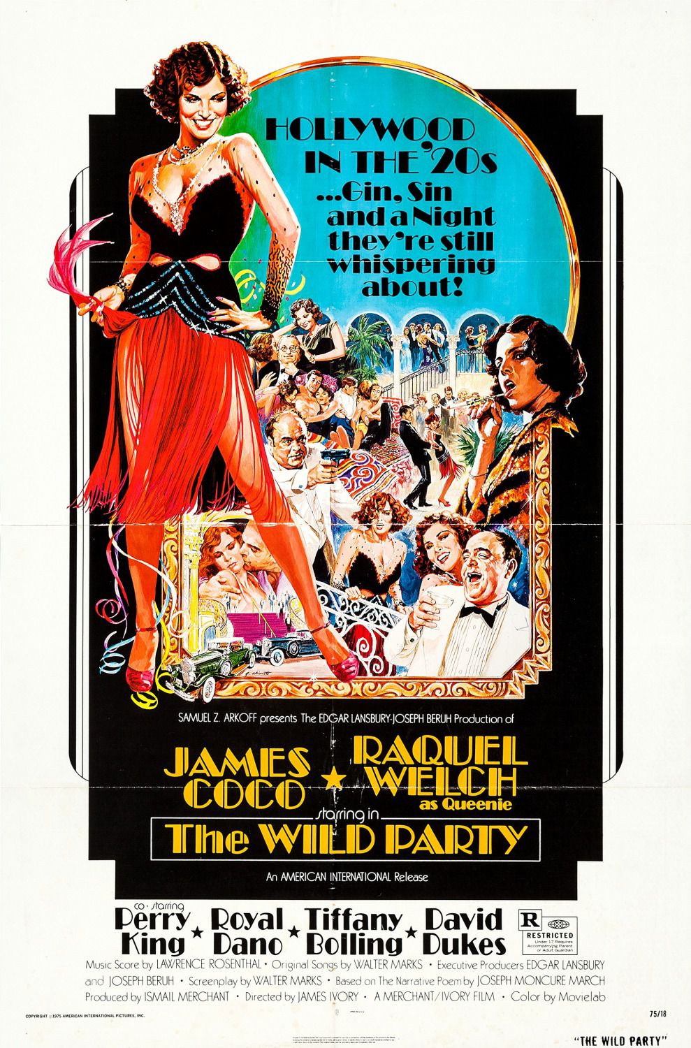 Wild Party - 1975 - James Coco - Raquel Welch  - classic film poster