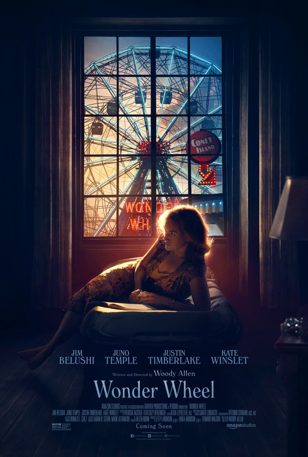 Wonder Wheel - Woody Allen - Kate Winslet - Juno Temple - Justin Timberlake - James Belushi - film poster