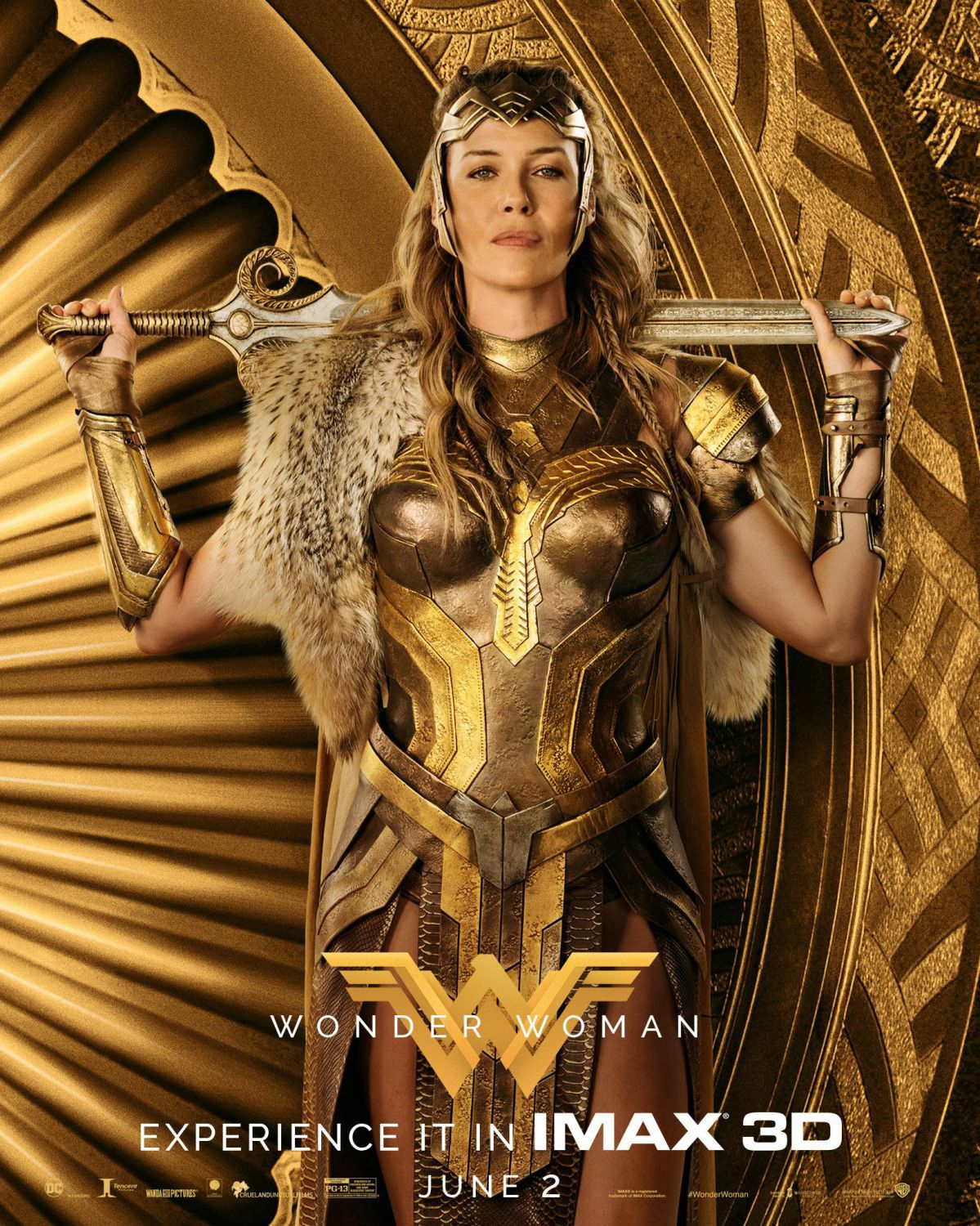 Wonder Woman 2017 - poster - Connie Nielsen - Queen Regina Hippolyta