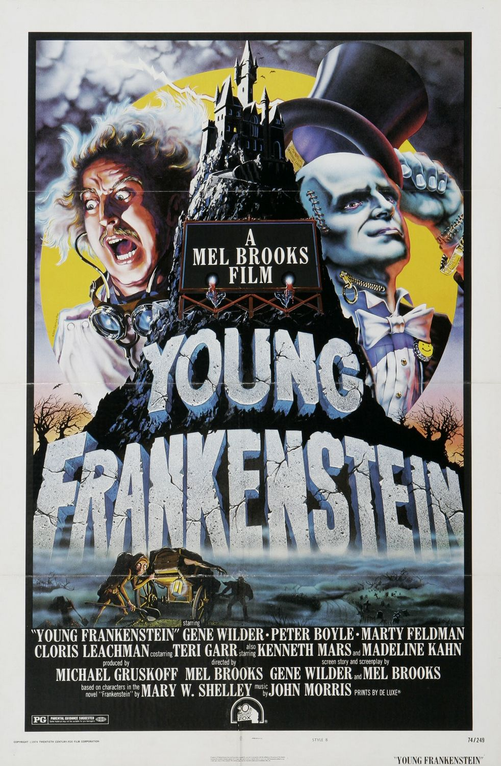 Young Frankenstein - Mel Brooks - Gene Wilder - Marty Feldman - film poster