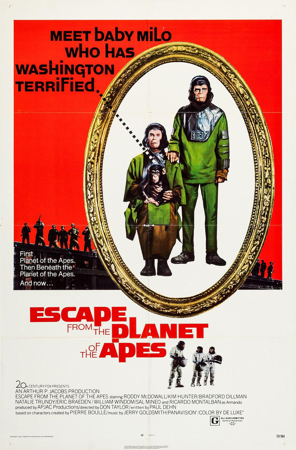 Apes 3 - Fuga dal Pianeta delle Scimmie - Escape from the Planet of the Apes (Classic 1971)