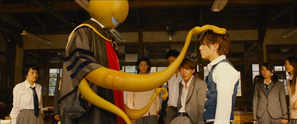 Assassination Classroom live action - Koro Sensei yellow teacher welcome new student