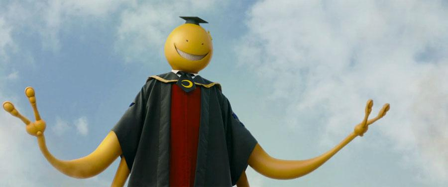 Assassination Classroom live action - Koro Sensei flying yellow teacher