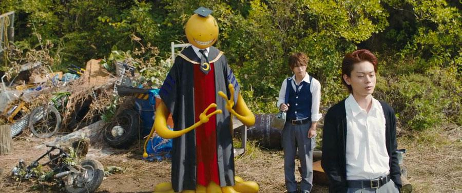Assassination Classroom live action - Koro Sensei yellow teacher gita tour