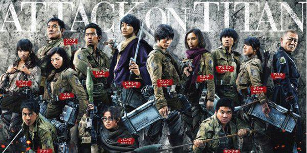 Attacco dei Giganti - Shingeki no kyojin - Attack on Titan live action - actors characters