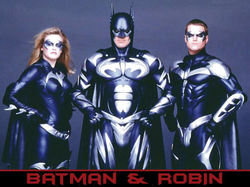 George Clooney as Batman, Alicia Silverstone as Batgirl, Chris O'Donnell as Robin