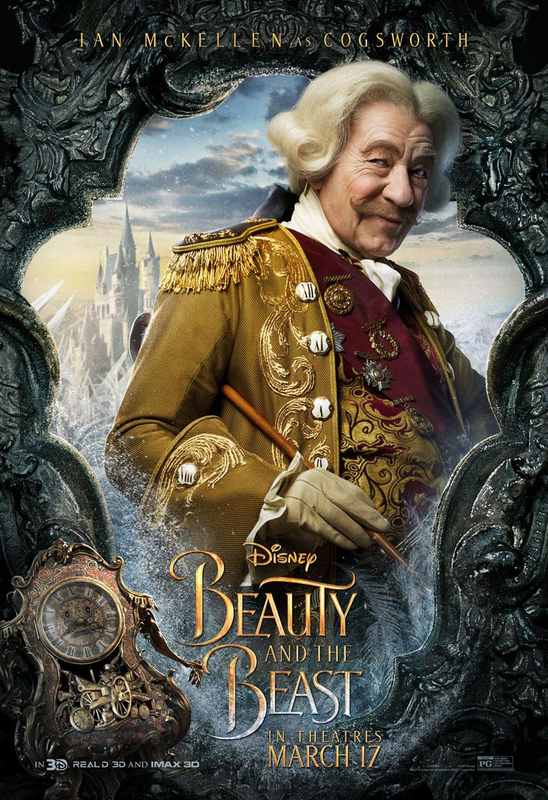 La Bella e la Bestia (Beauty and the Beast) - live action Disney - Ian McKellen - Cogsworth