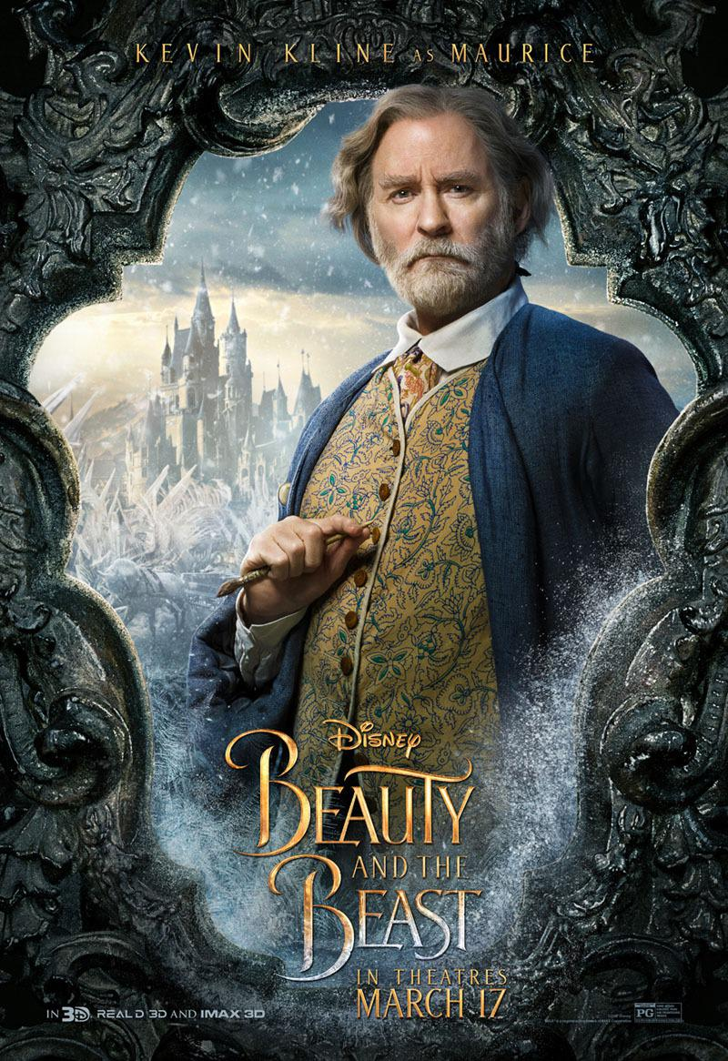 La Bella e la Bestia (Beauty and the Beast) - live action Disney - Ewan McGregor - Kevin Kline - Maurice