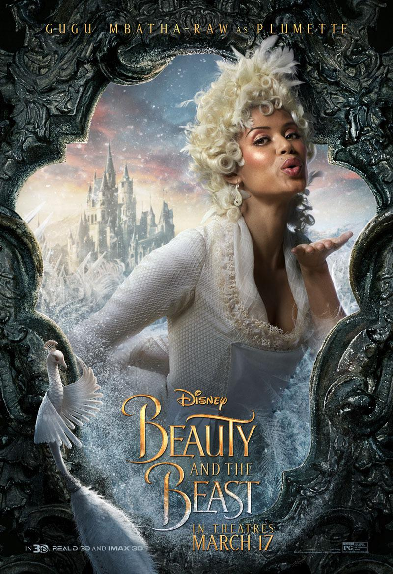 La Bella e la Bestia (Beauty and the Beast) - live action Disney - Gugù Gugu Mbatha - Raw - Plumette