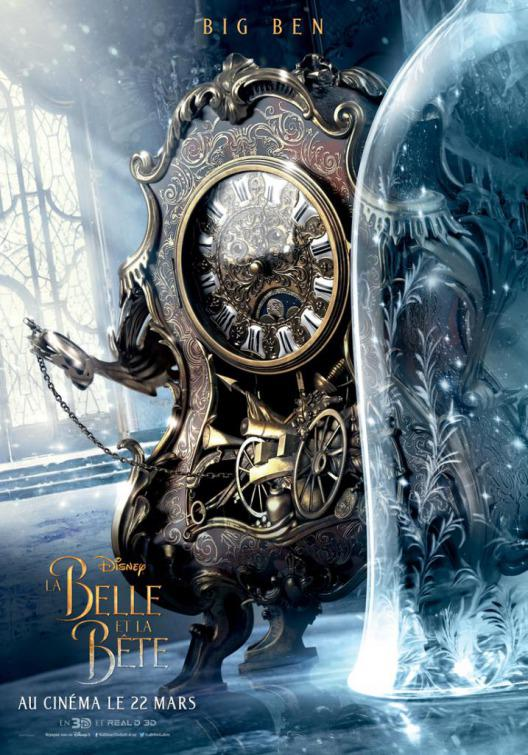 La Bella e la Bestia (Beauty and the Beast) - live action Disney - poster - Mr. Tockins - Big Ben