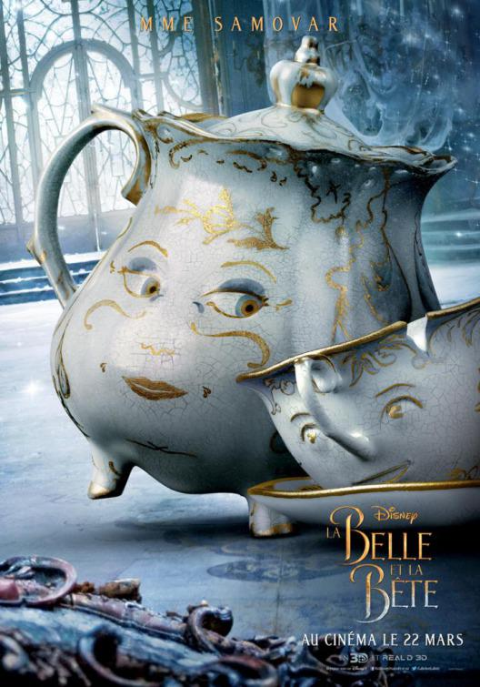 La Bella e la Bestia (Beauty and the Beast) - live action Disney - poster - Mme Madame Samovar