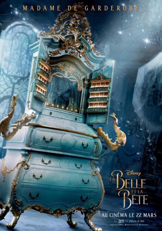 La Bella e la Bestia (Beauty and the Beast) - live action Disney - poster - Mme Madame De Garderobe