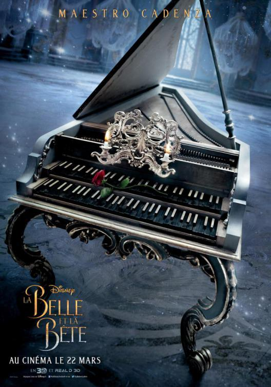 La Bella e la Bestia (Beauty and the Beast) - live action Disney - poster - Maestro Cadenza