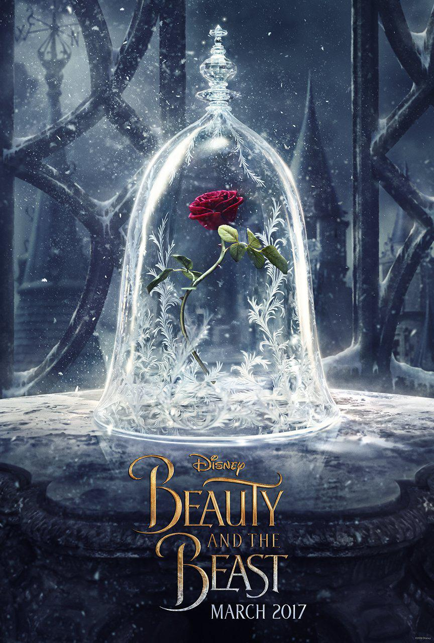 La Bella e la Bestia (Beauty and the Beast) - live action Disney - poster - magic rose - rosa magica