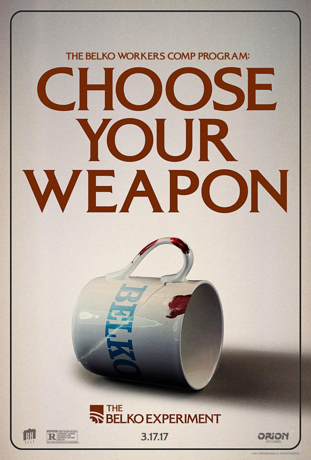 Belko experiment - film poster - choose your weapon