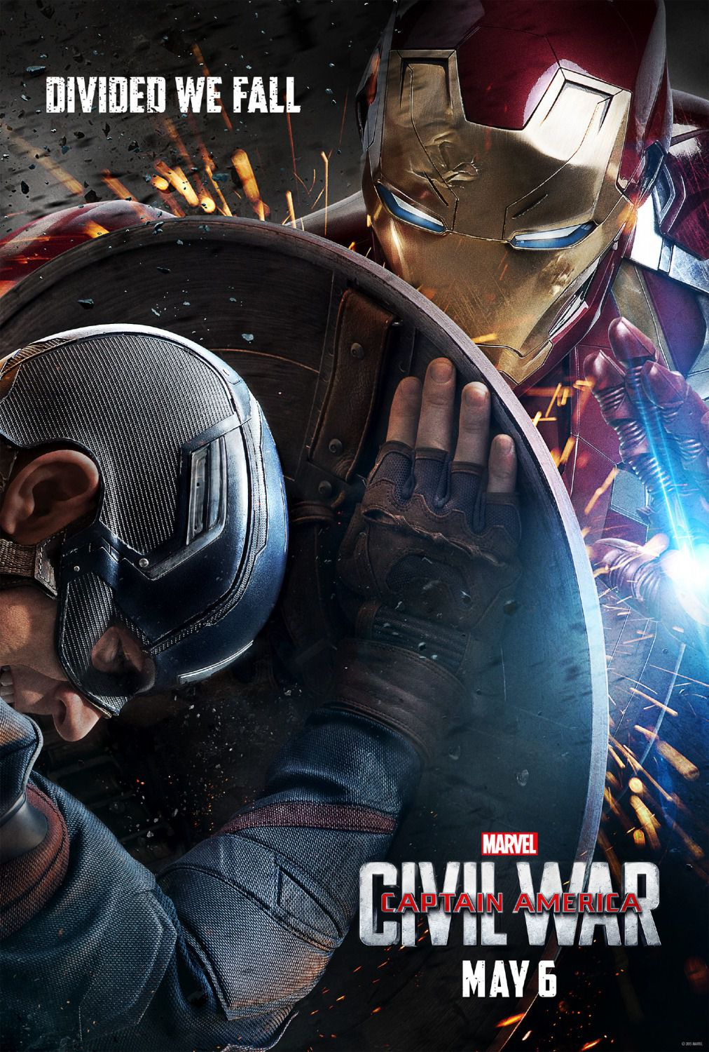 Captain America 3 - Civil War - Capitan America -  poster - Captain America vs Ironman
