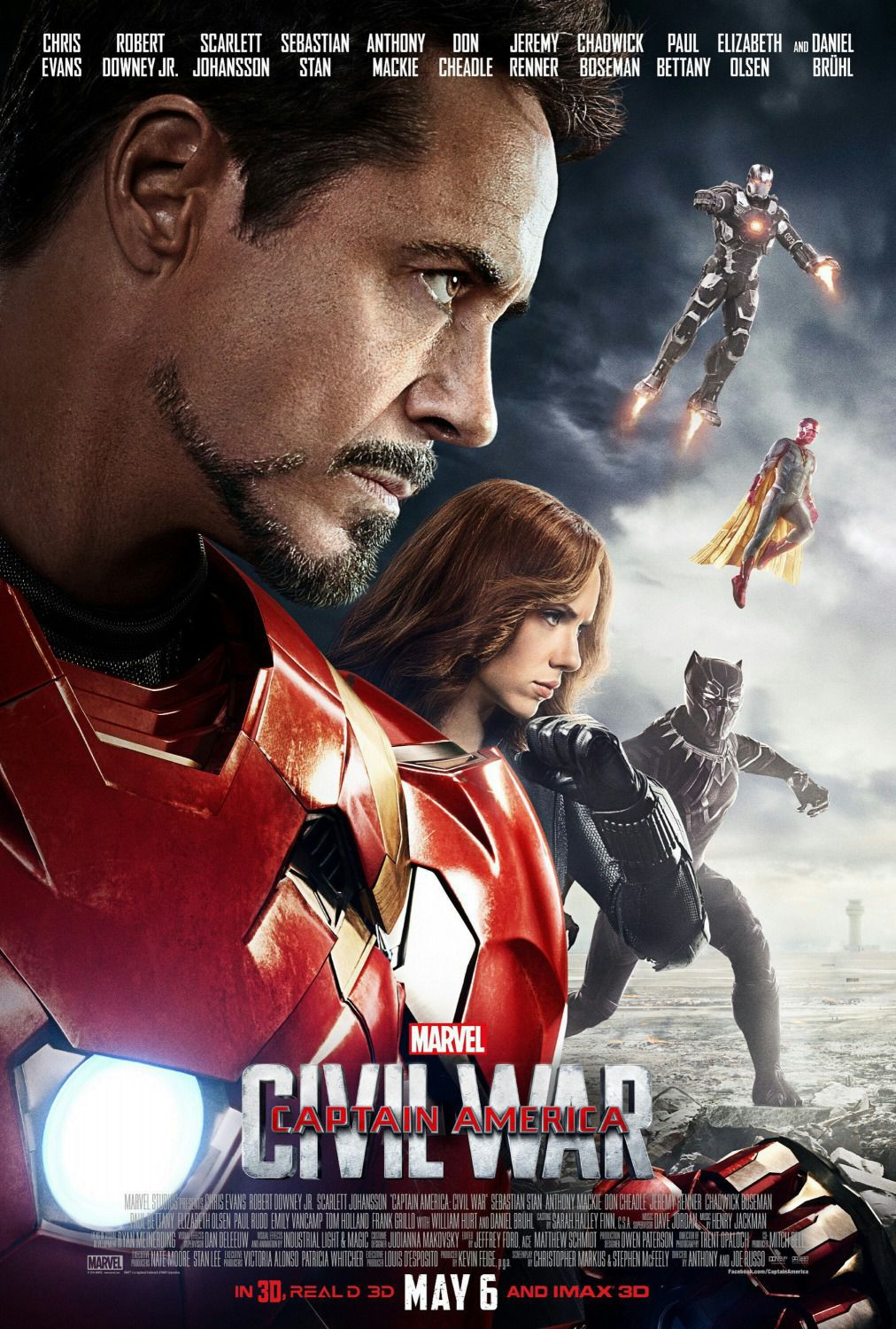Captain America 3 - Civil War - Capitan America -  poster