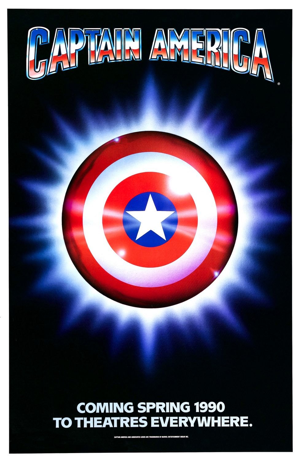 Captain America - old film 1990 - logo poster