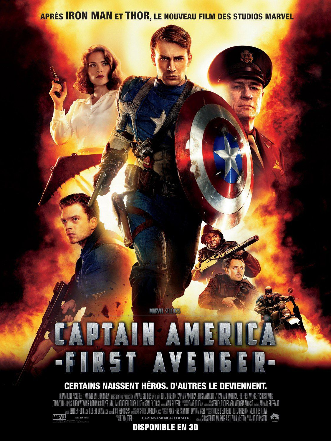 Captain America - the First Avenger - Capitan America - Marvel film poster