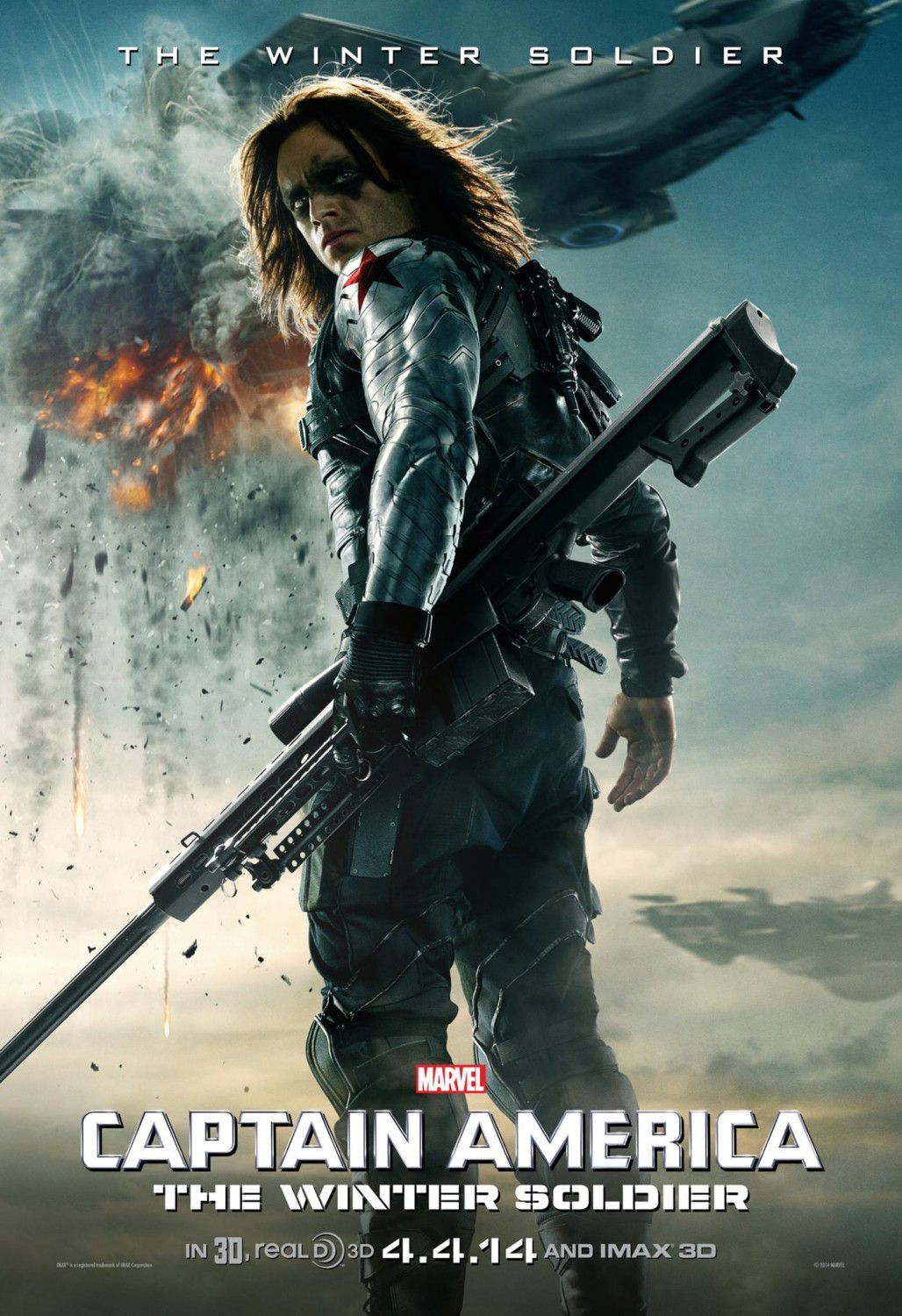Film - Captain America 2 - the Winter Soldier (Sebastian Stan) - Capitan America