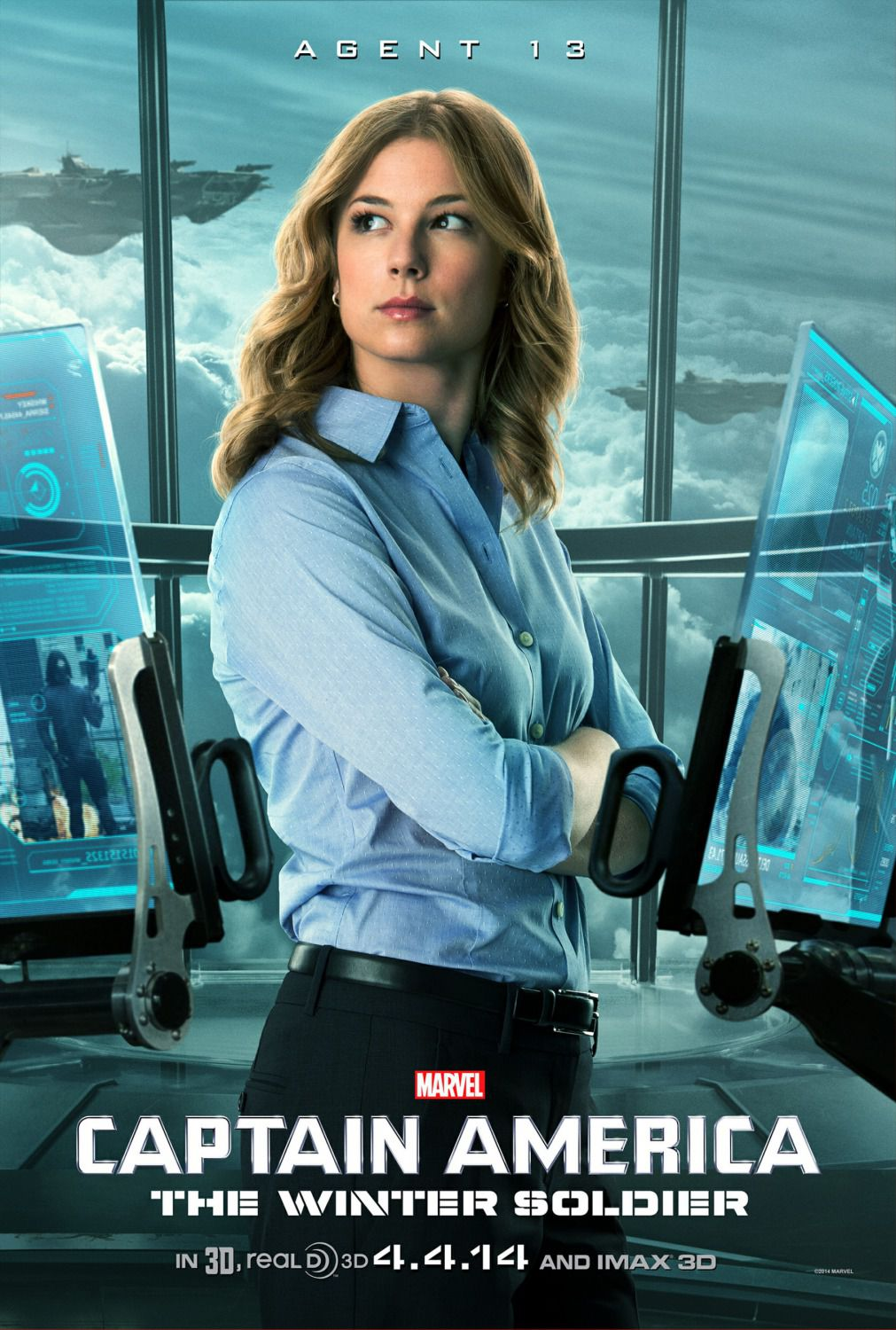 Film - Captain America 2 - the Winter Soldier - Capitan America - Agent 13 (Emily VanCamp)