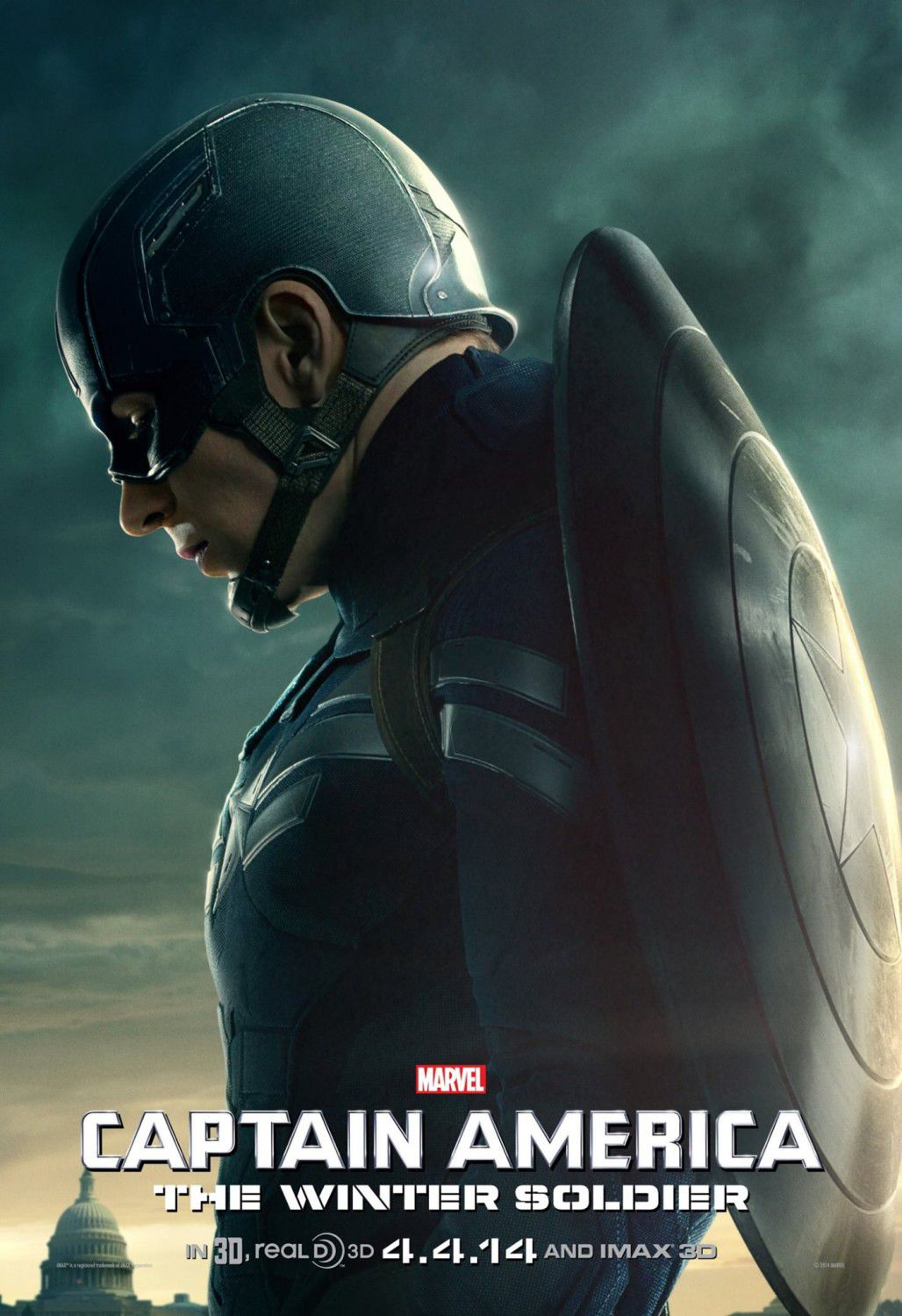Film - Captain America 2 - the Winter Soldier - Capitan America -  Chris Evans