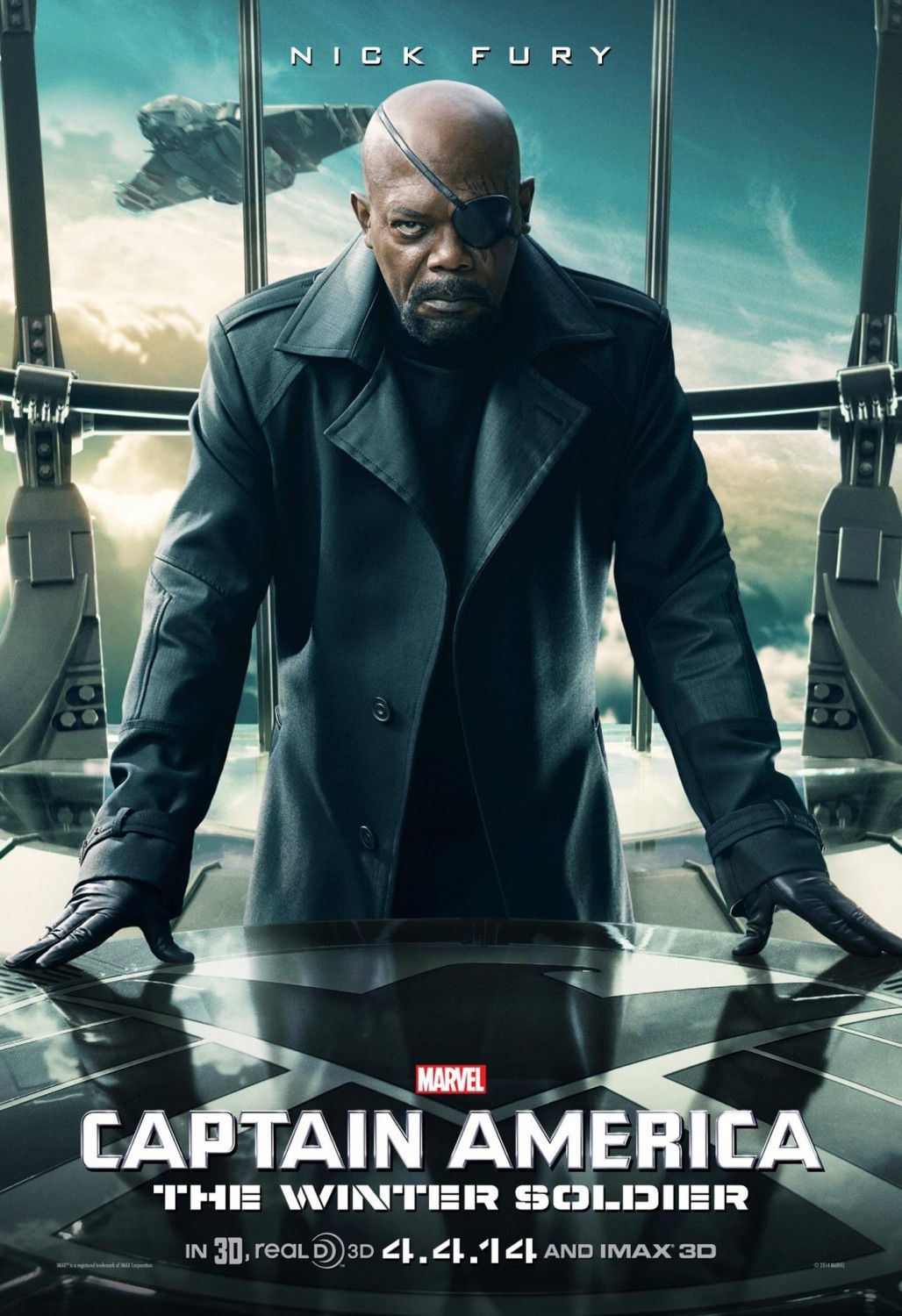 Film - Captain America 2 - the Winter Soldier - Capitan America -Nick Fury (Samuel L. Jackson)