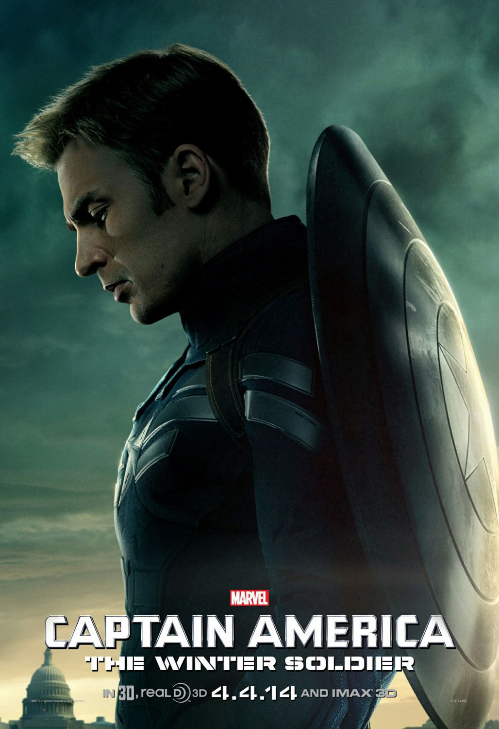 Film - Captain America 2 - the Winter Soldier - Capitan America -  Steve Rogers (Chris Evans)