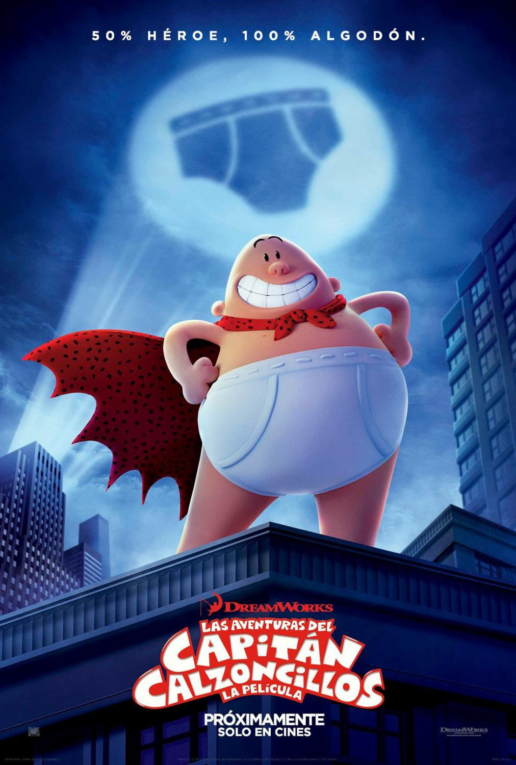 Captain Underpants - Capitan Mutanda - Dreamworks animated film - poster