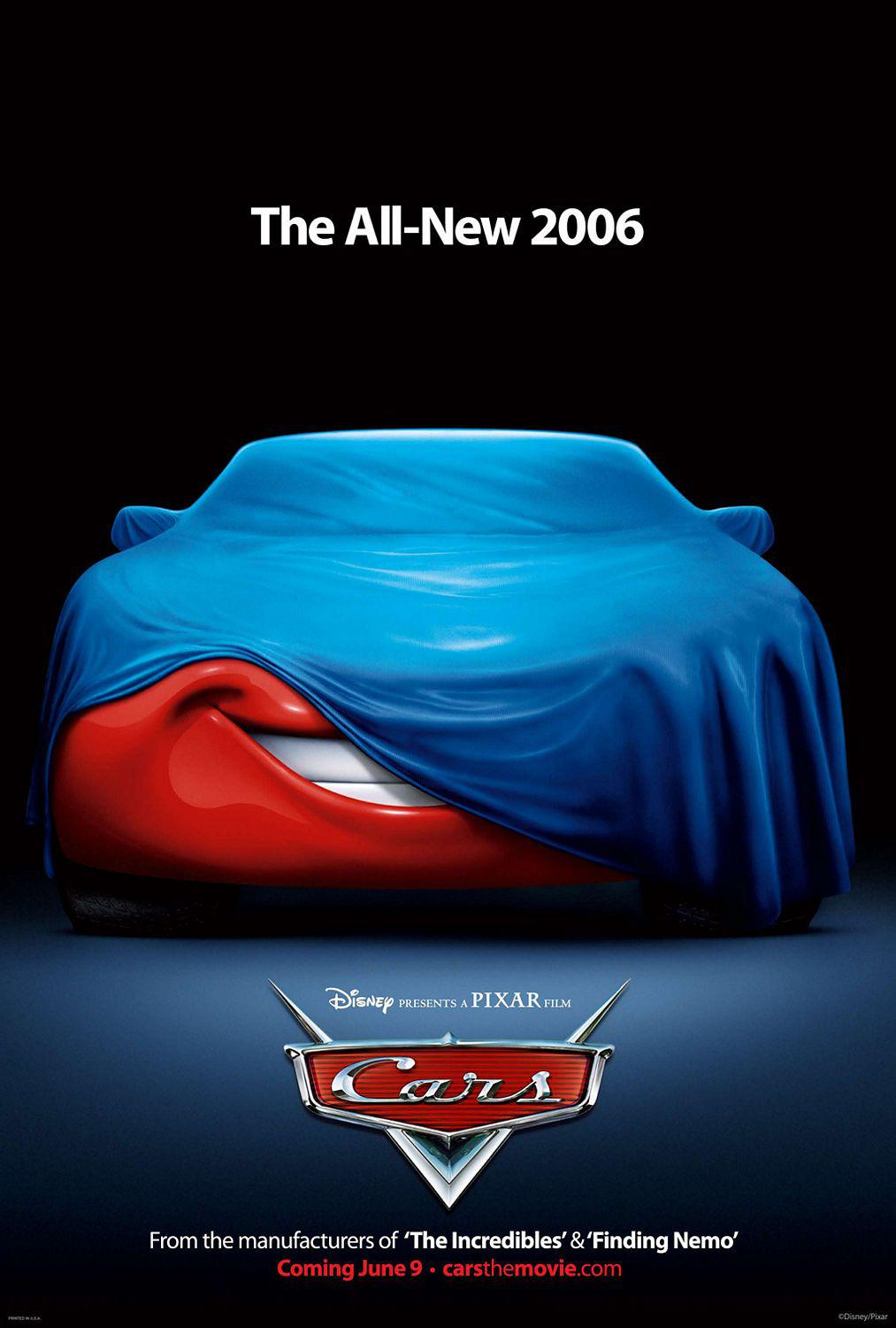 Cars - Disney Pixar animated film poster