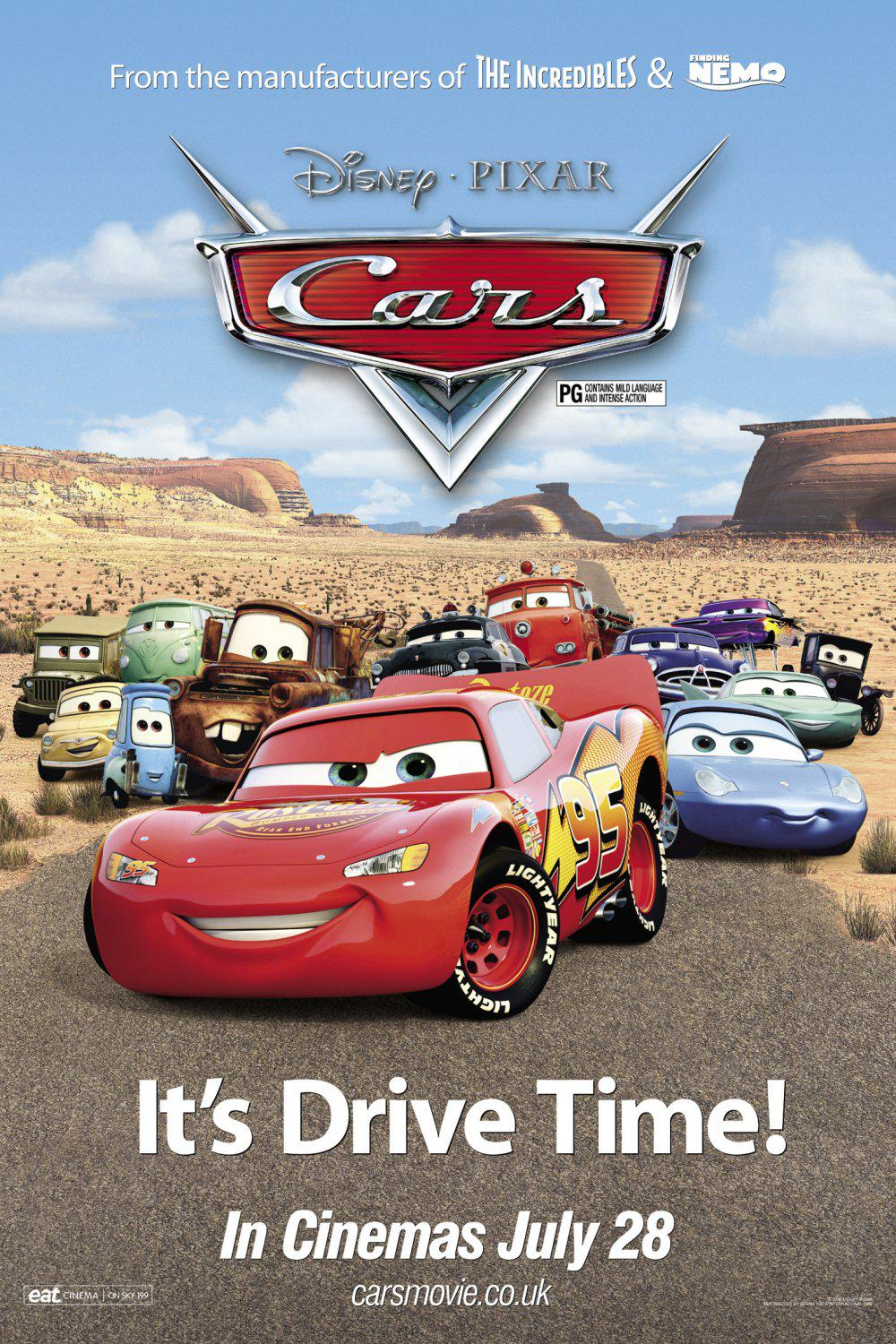 Cars - Disney Pixar animated film poster - it's Drive Time