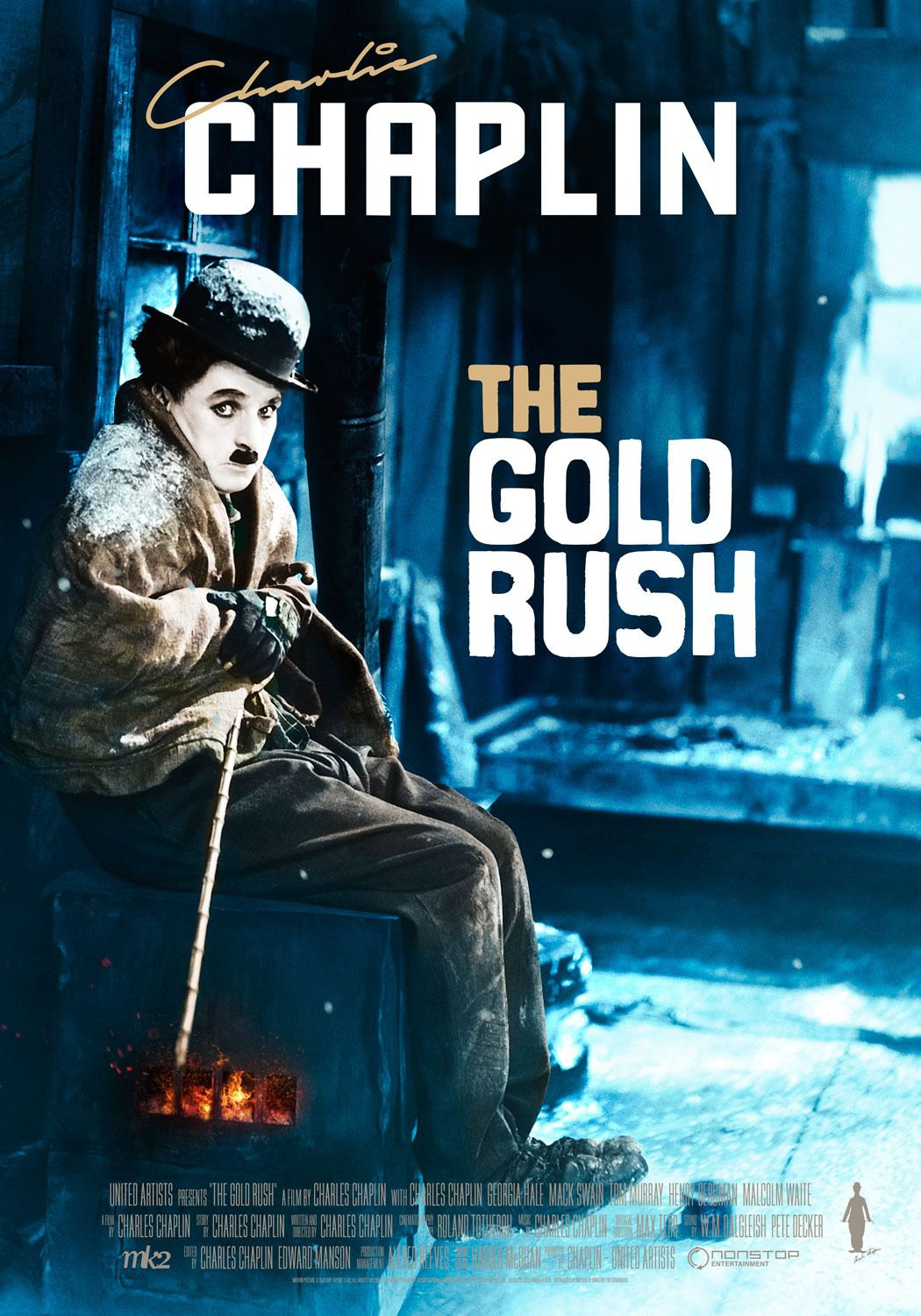 Film - Charlie Chaplin - 1925 - Gold Rush - Corsa all'Oro - poster