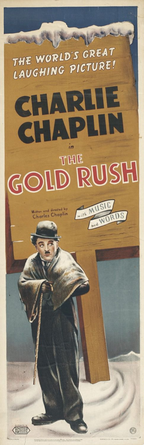 Film - Charlie Chaplin - 1925 - Gold Rush - Corsa all'Oro - old poster