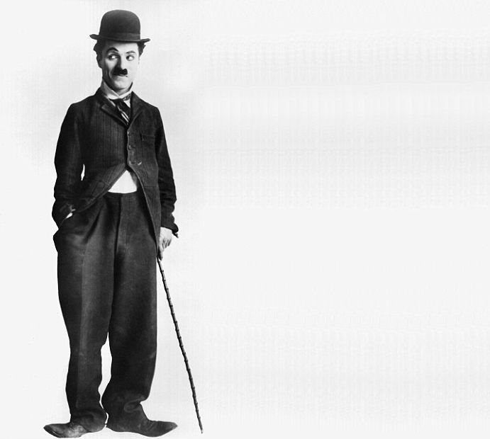 Charlie Chaplin - classic old actor black and white hat