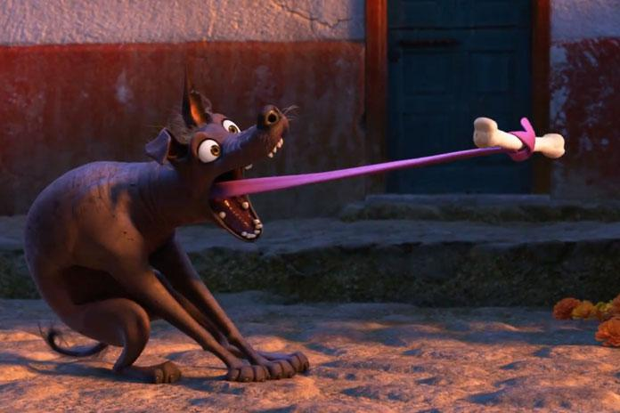 Film - Coco (Disney Pixar) - dog Dante cane perro chien - bone osso