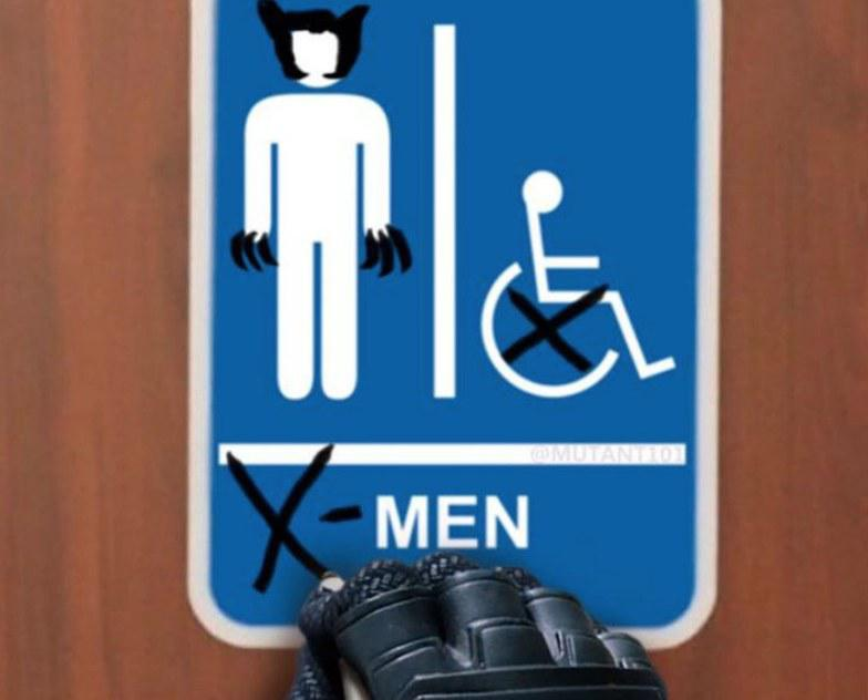 Deadpool 2 - X-Men public Bathroom