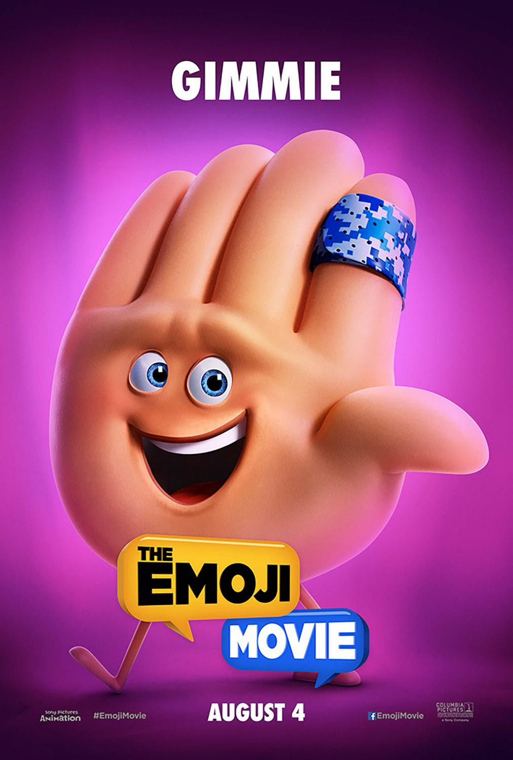Emoji - Emoticon animated movie - Gimmie - give me five - poster