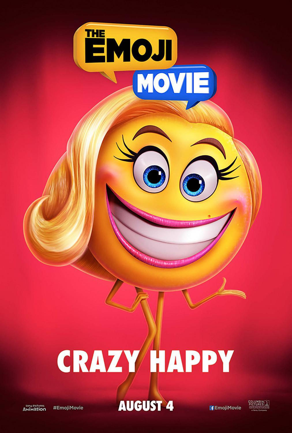 Emoji - Emoticon animated movie -  Crazy Happy - Smile - poster