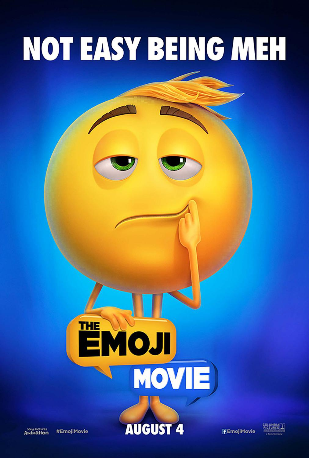 Emoji - Emoticon animated movie - Not Easy Being Meh - Mmm - poster