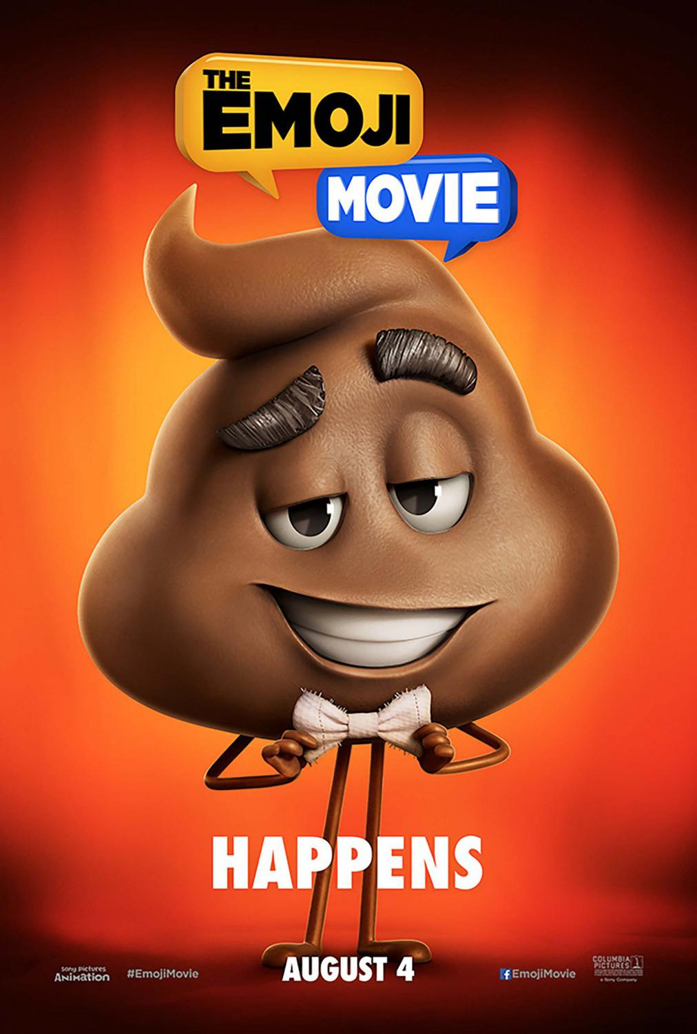Emoji - Emoticon animated movie - Happens - shit - poster