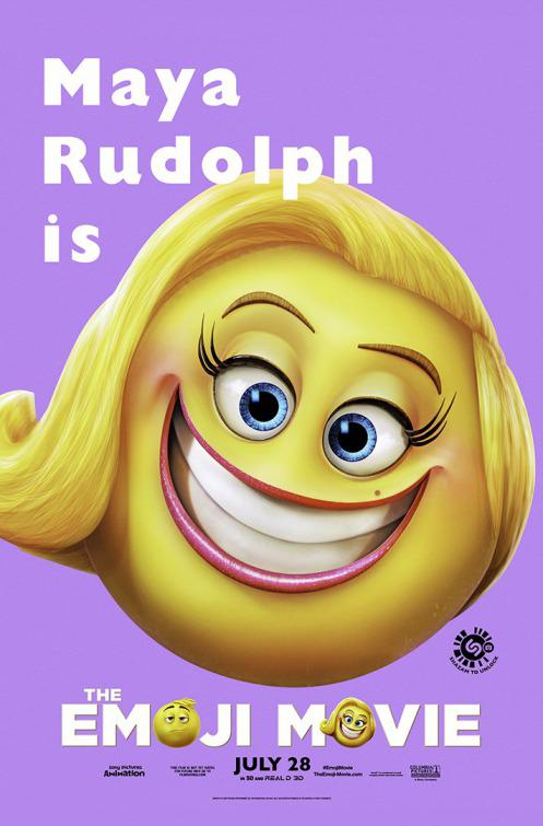 Emoji - Emoticon animated movie - Maya Rudolph - smile - poster