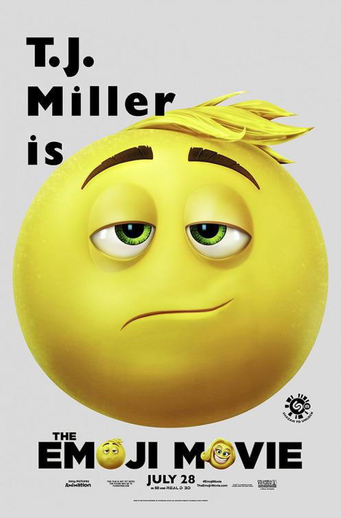 Emoji - Emoticon animated movie - T.J. Miller - poster
