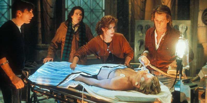 Flatliners - Linea Mortale - film del 1990 - scene - Kiefer Sutherland - Julia Roberts - Kevin Bacon - William Baldwin - Oliver Platt - Kimberly Scott