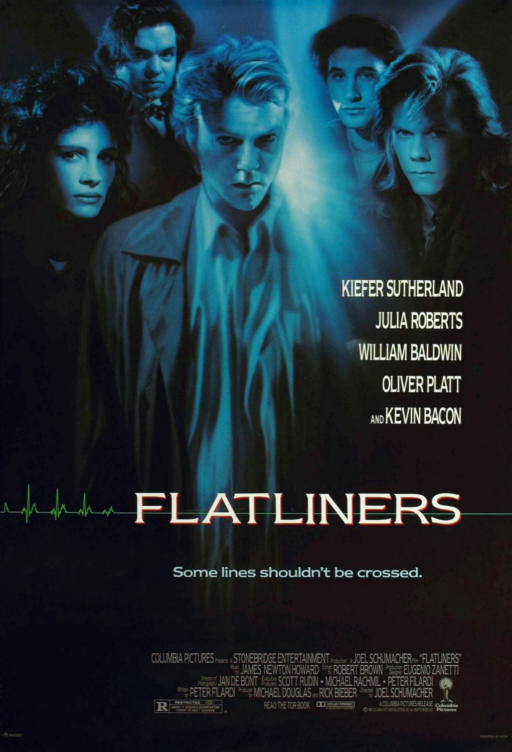 Flatliners - Linea Mortale - film del 1990 - Kiefer Sutherland - Julia Roberts - Kevin Bacon - William Baldwin - Oliver Platt - Kimberly Scott